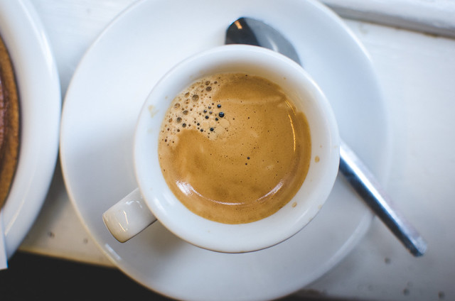 An espresso pick-me-up at Lanskroon in Amsterdam.