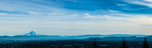 blue sky panorama haze watertower bluesky mthood