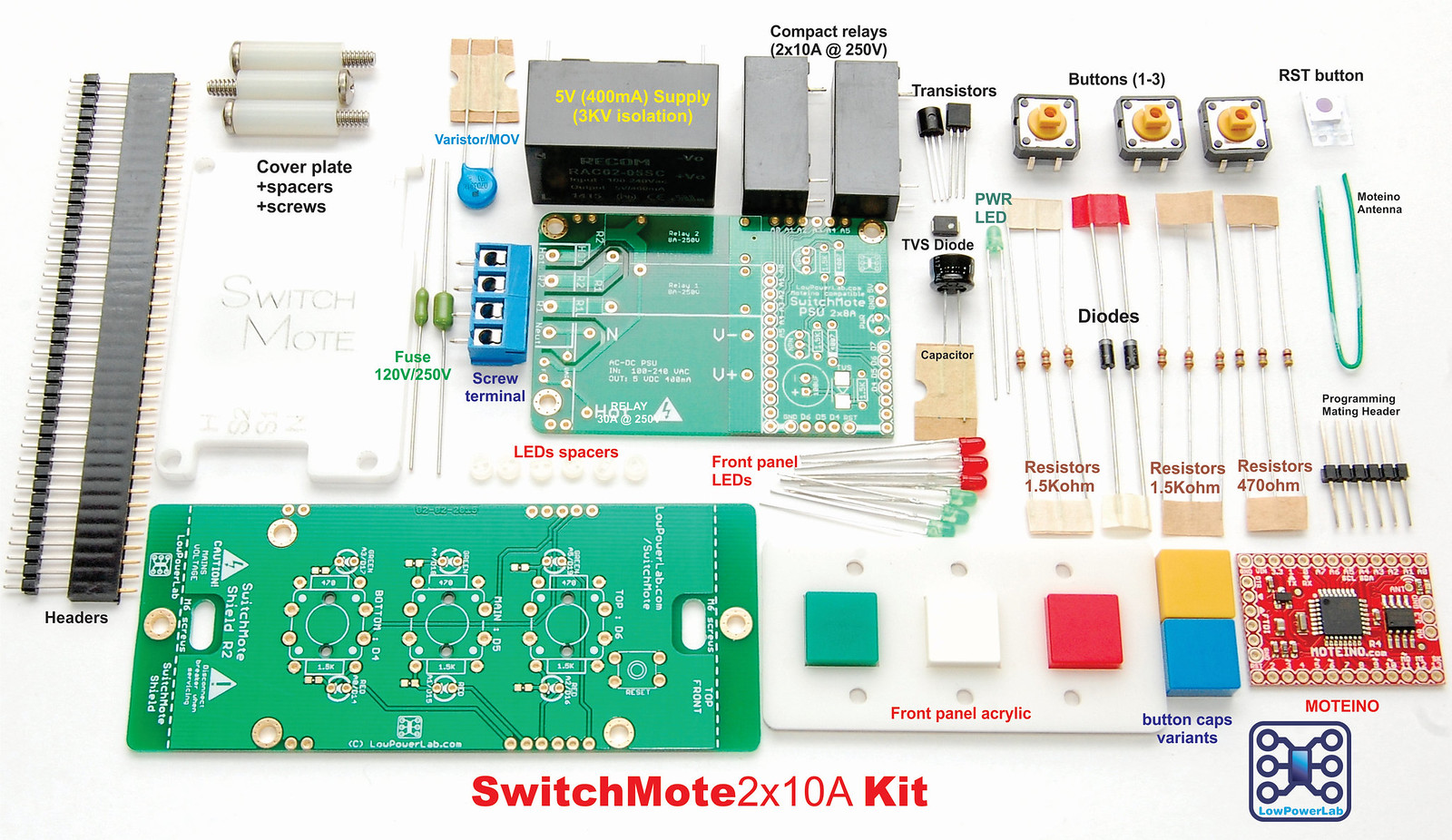 Switchmote Lowpowerlab Powerswitch Tail Relay Conventional Light Switches For The Purpose Of Automating Household Switching Specifically There Is A New Dual 10a And Psu