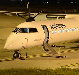 Wideroe Bombardier DHC-8-402Q Q400 LN-WDZ Nose End
