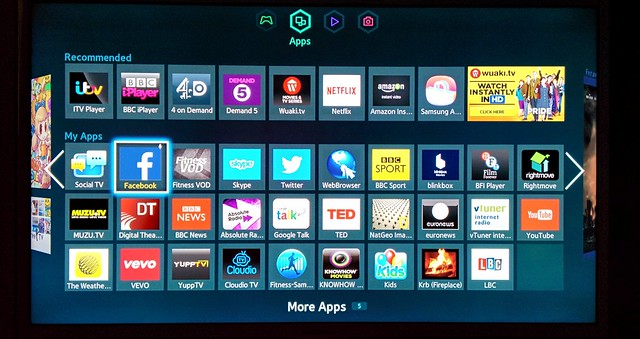 My Samsung Smart TV's apps