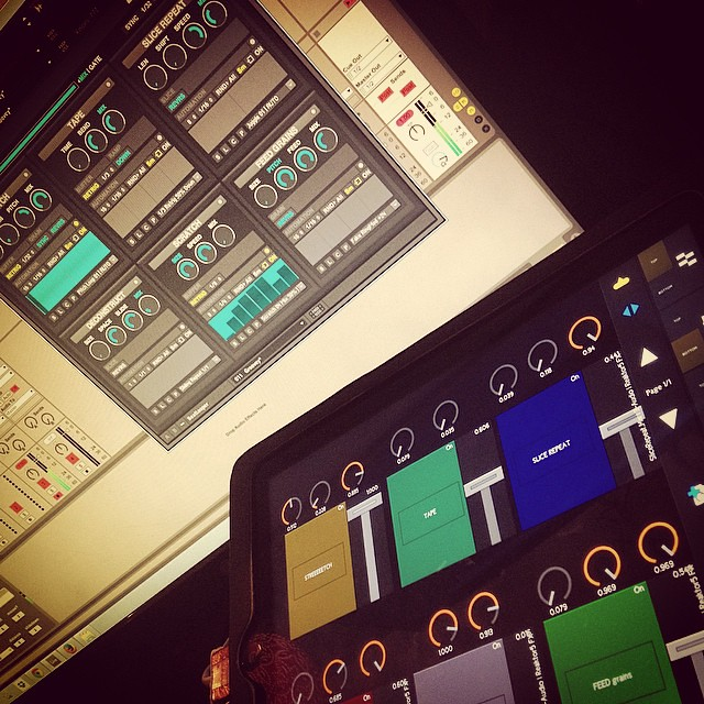 Custom Touchable template for Twisted Tools Buffeater #buffeater #twistedtools #abletonlive #ableton #ipad #touchable