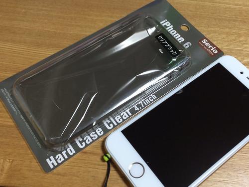 セリアのiPhone6ハードケース クリア