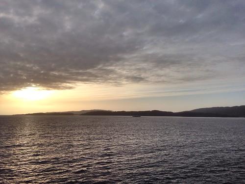 sunset sea sky norway norge fjord vestlandet