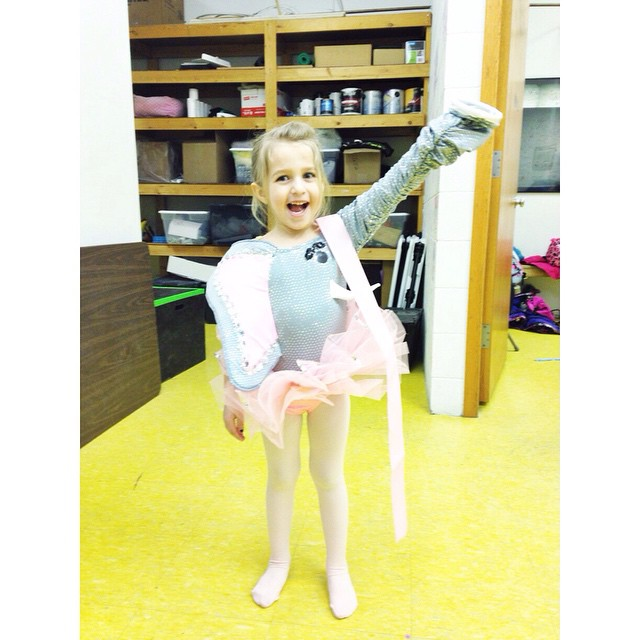 She is super excited about her dance recital costume