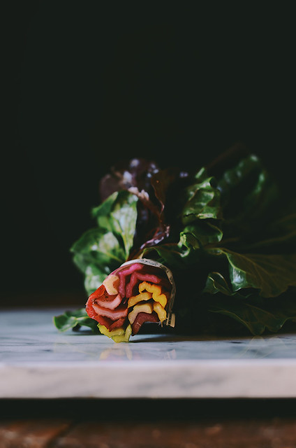 rainbow chard rolls with sweet potato and chickpea stuffing | A Brown Table