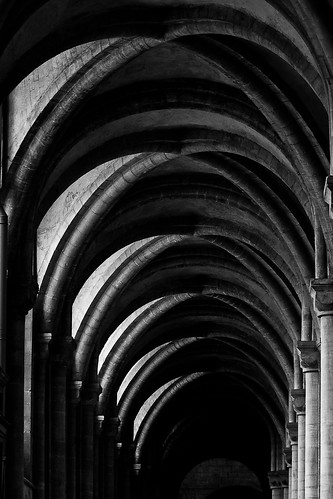 blackandwhite bw architecture peterboroughcathedral ribbedvault canoneos500d