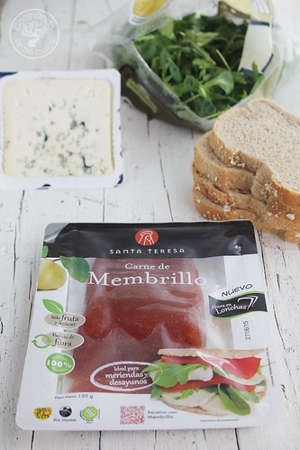 Sándwich membrillo y queso azul www.cocinandoentreolivos.com (4)