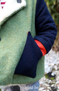 Flipped Pea Coat - Behind the Hedgerow