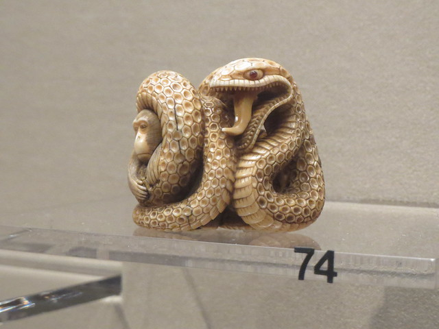 Japanese Netsuke Snake Sculpture