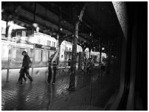 zawiercie vienna eic pkp rain window railway train carriage poland intercity streaked rainsplattered