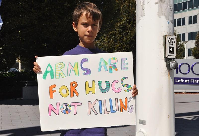 Sunnyvale, CA Peace Vigil at Lockeed Martin 2016 (2)
