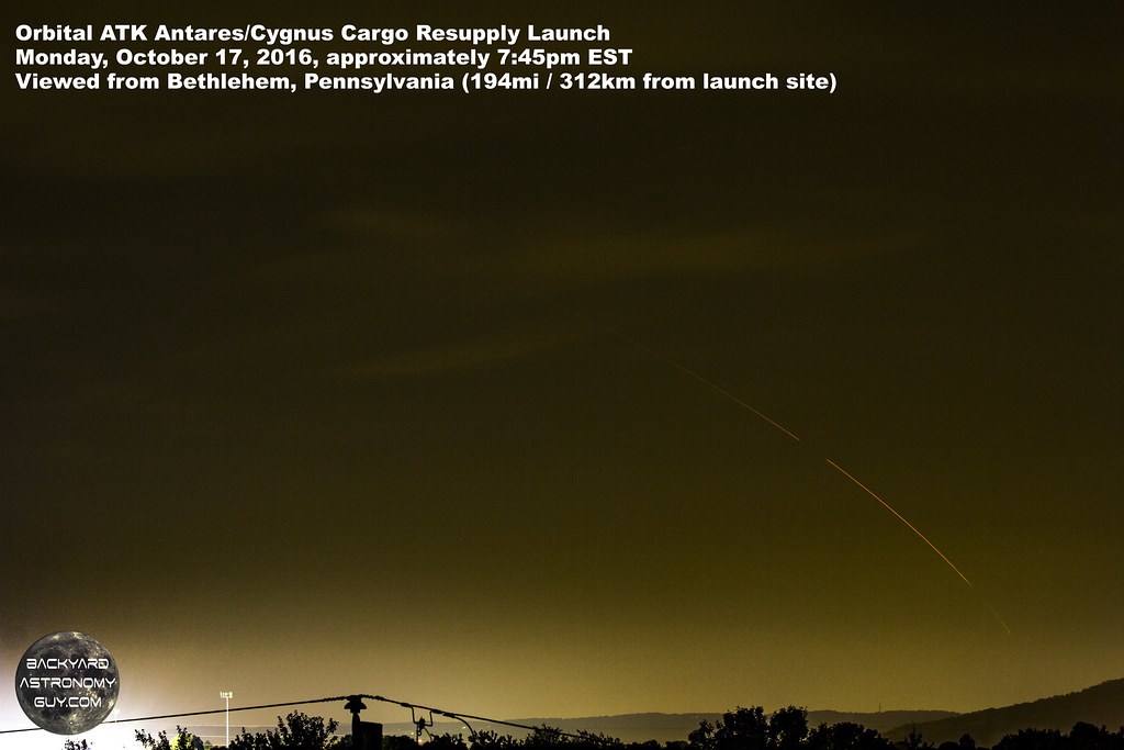 Orbital ATK Antares/Cygnus Launch Oct. 17, 2017