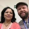 Blurry selfie with Meenakshi Mukerji at the #origami convention in Mexico City