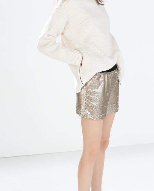 shorts lentejuelas zara
