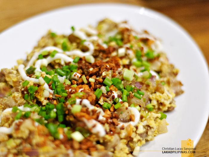 Sisig at Antonio's LaPaz Batchoy House in Makati City