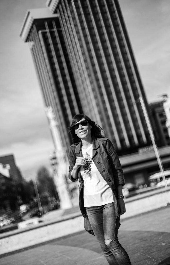street style barbara crespo howsty boots jeans plaza colon madrid fashion blogger outfit blog de moda