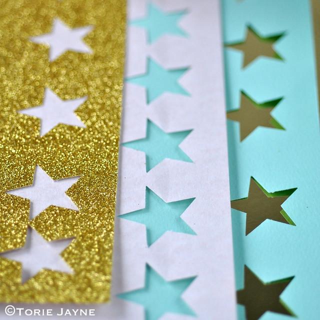 Cut paper stars