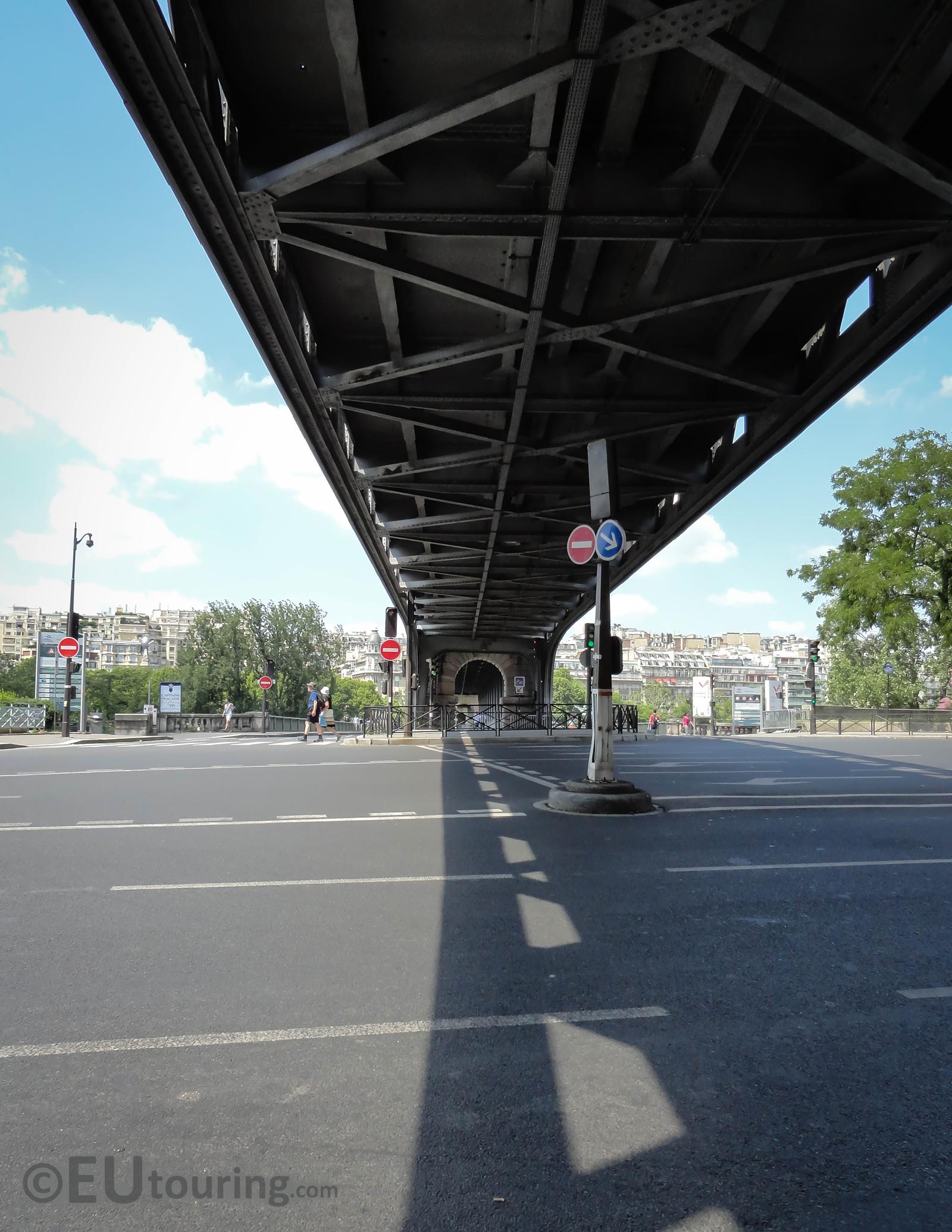 View beneath the Pont de Bir-Hakeim