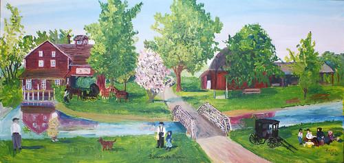 'Bonneyville Picnic' Painting