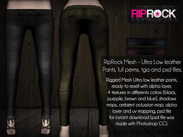 RipRock MESH - Ultra Low Leather Pants  POSTER