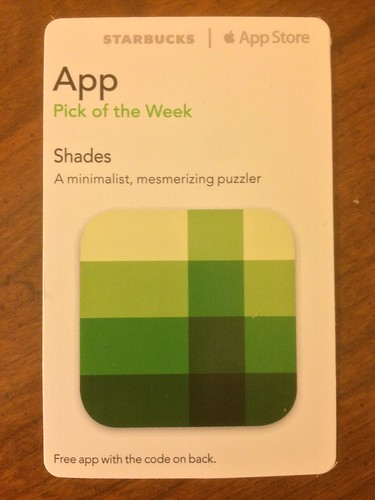 Starbucks iTunes Pick of the Week - Shades