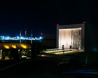 The Future of Flight Main Entryway at Night