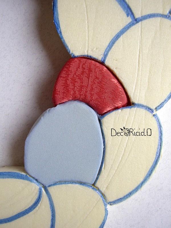 ghirlanda di uova, patchwork senza ago 10