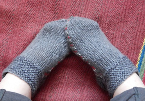 носки-тапочки для дома с двойной подошвой из остатков пряжи | Хорошо.Громко.