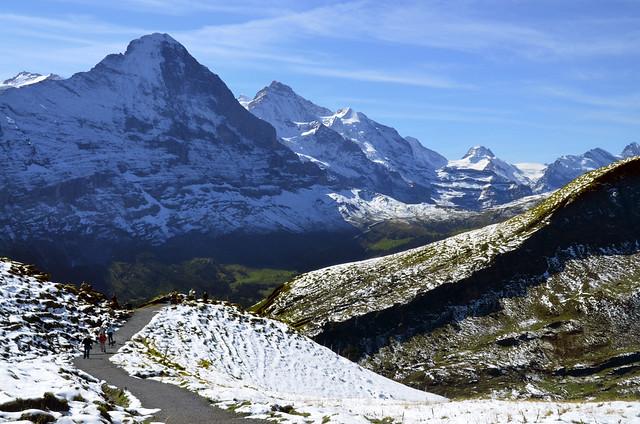 Divisando el Eiger y el Jungfrau