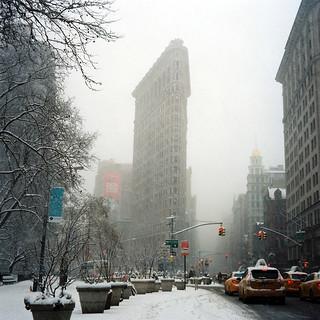 Flatiron in the snow