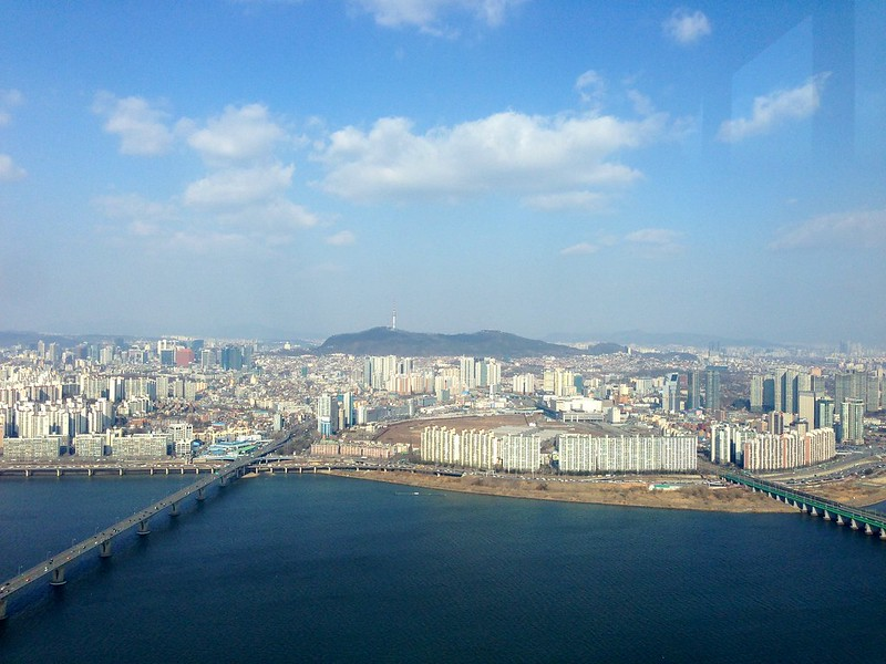 View of Seoul from 63 Building observation deck