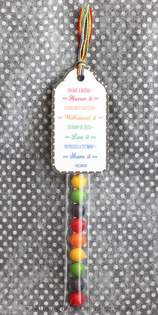 Candy tube with tag