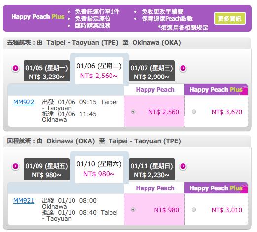 桃園-沖繩 機票價錢 螢幕快照 2014-10-13 上午11.55.20