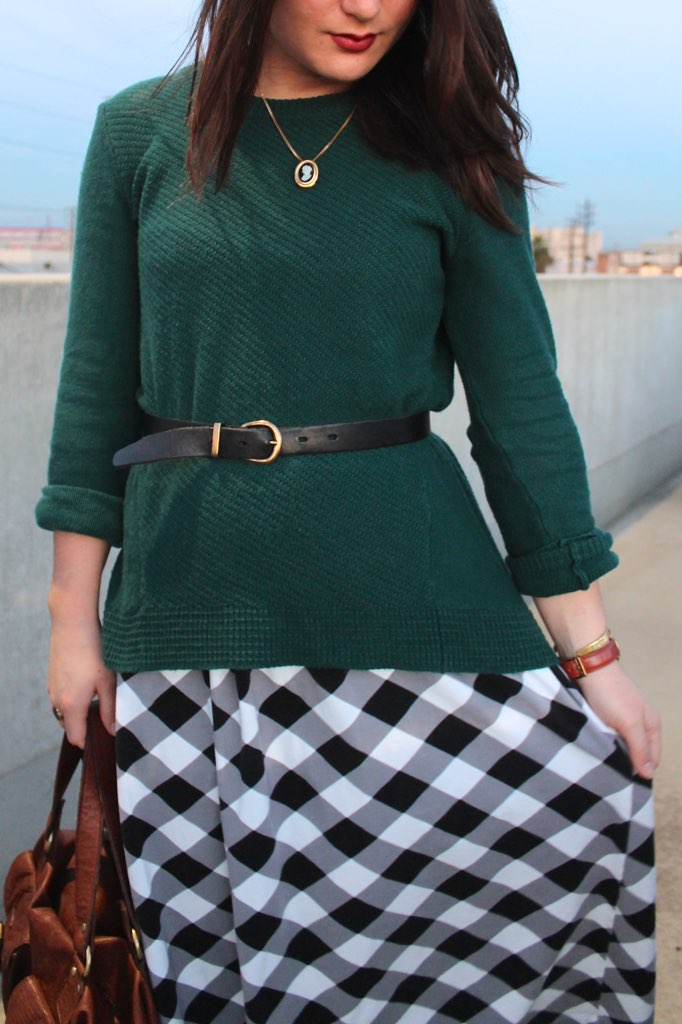 belted sweater #style