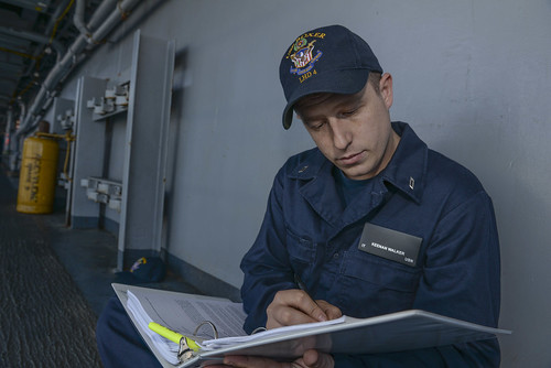 Boxer Sailors Do Their Homework