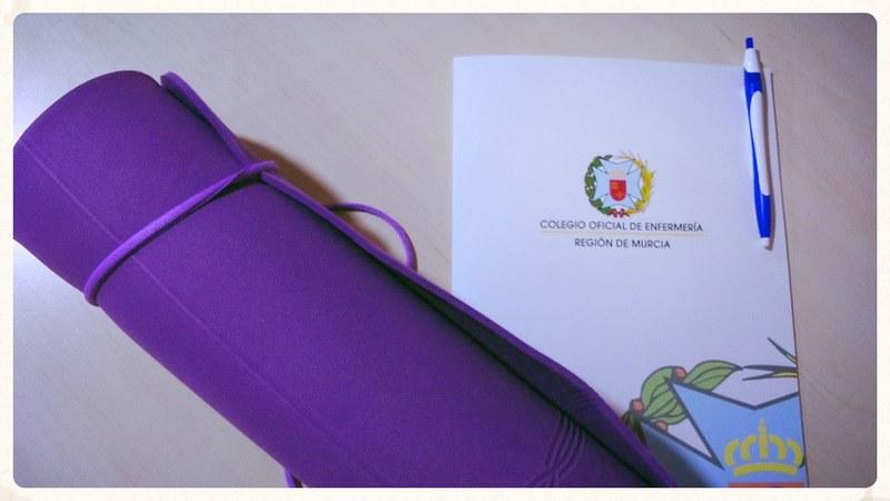 @antonReina en el Taller de Yoga y Meditación para Enfermería en el Colegio de Murcia