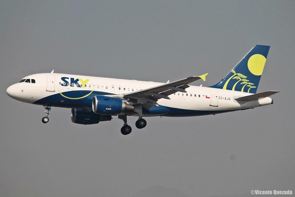 Airbus A319-112 / Sky Airline / CC-AJG
