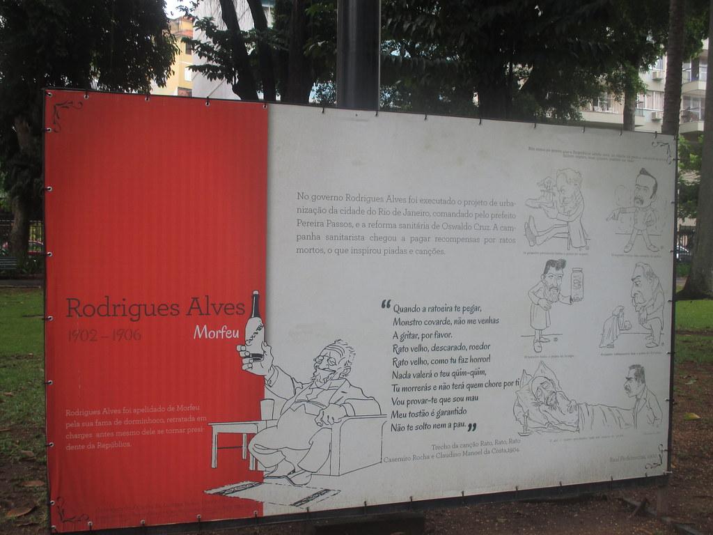 Caricature de l'ex- Président Rodrigues Alves