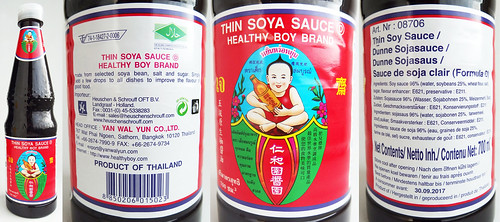 Healthy Boy, Thai Thins soy sauce