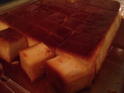 Mexican Flan Cubes Baked caramel Custard Food