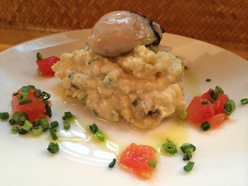 薫製牡蠣が入ったポテサラ@牡蠣バル 大山