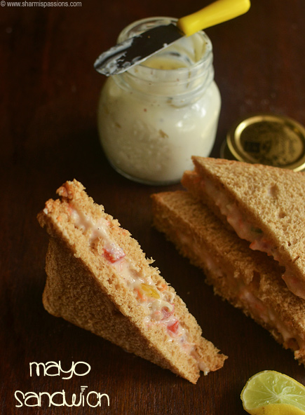 Vegetable Mayonnaise Sandwich Recipe