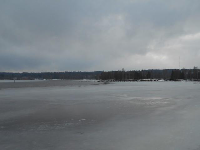 Poikkeuksellisen aikaista järvijäiden sulamista Hämeenlinnassa 1.3.2015