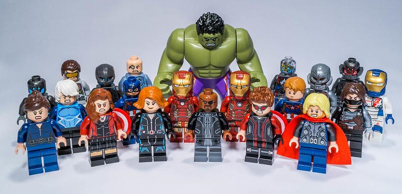 Lego Marvel 2015 minifigs