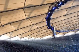 Sunray in Hamburg stadium