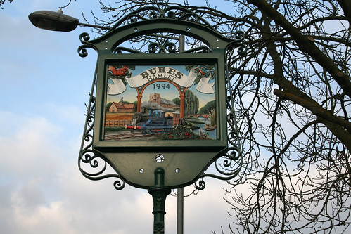 Bures village sign