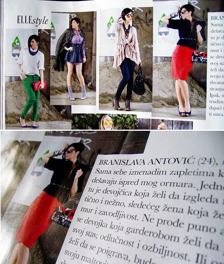 Branislava Antovic u Elle Serbia magazinu