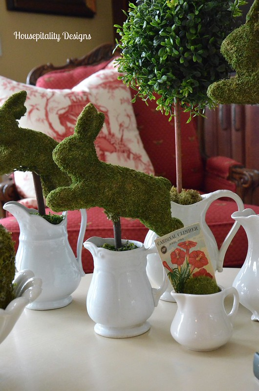 Moss Covered Bunnies/Ironstone Creamers-Housepitality Designs