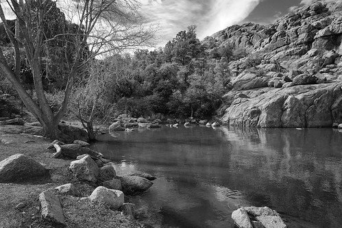 arizona bw landscapes rocks lakes